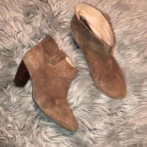 Rebecca Minkoff suede leather Booties 8.5
